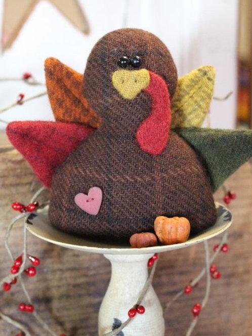 CWC 628 I Love Turkey Cloth Doll