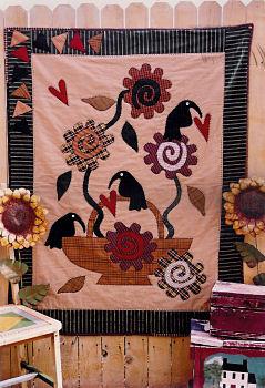 prim garden primitive applique quilt pattern by memes quilts - Prim Garden