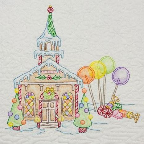 CAH 2515 Gingerbread Square Church #4