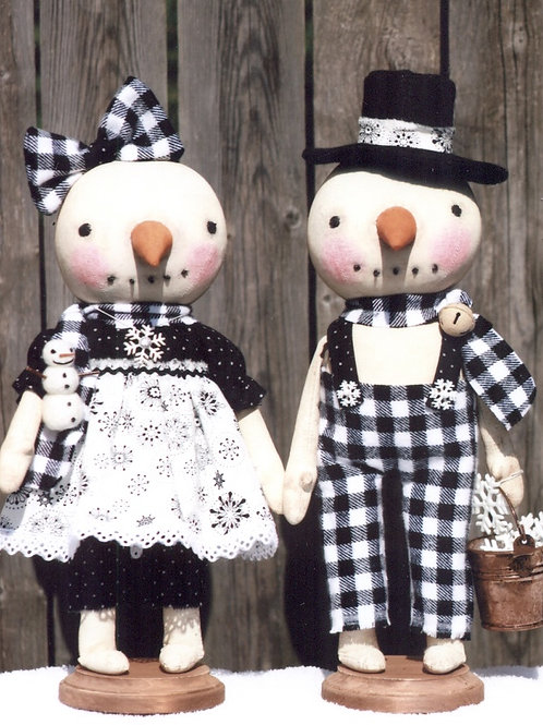 HHF451 - Standing Snow Sweet Girl & Boy