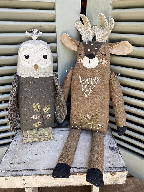 HTH402 Forest Friends - Deer & Owl