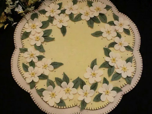 CP127   Apple Blossoms Candle Mat