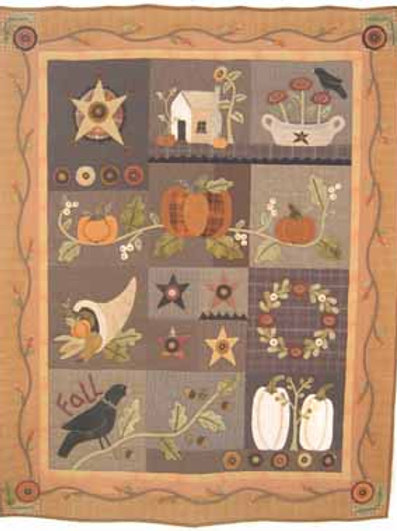 HTH 296 Autumn Quilt Set of 4 Patterns