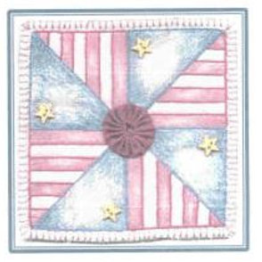 CK PA 03 Patriotic Pinwheel Ornament