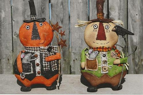 HHF512 Seasonal Men Scarecrow & Pumpkin