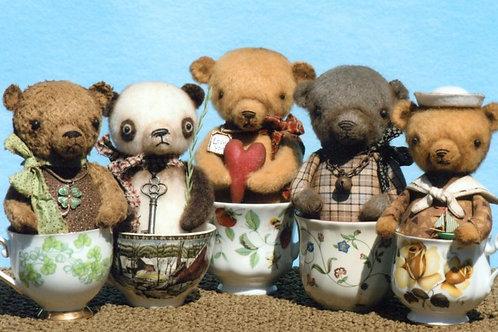 HHF309 - Tea Cup Teddy Bears