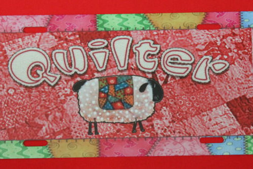 TPH129  Quilter Sheep Red Background