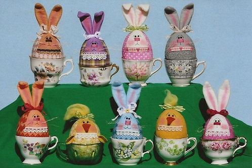 HHF488 - Tea Cup Bunny Eggs & company