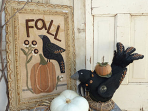 HTH 352 Crow & Pumpkin Wall Hanging