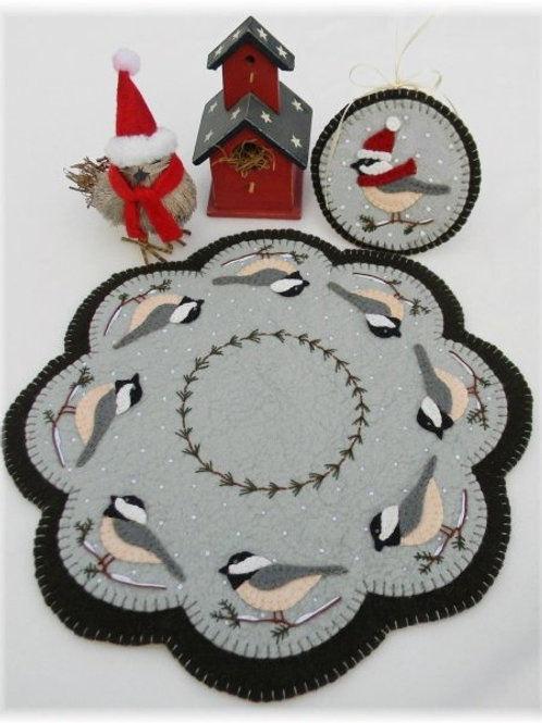 PLP155 -  Cheerful Chickadees Candle Mats