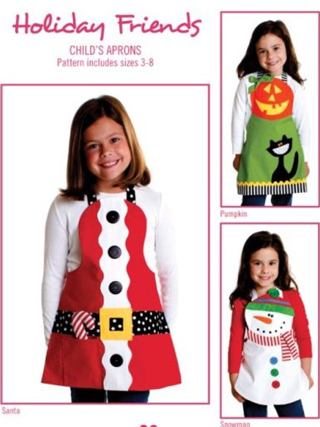 CG164 - Holiday Friends Child's Apron