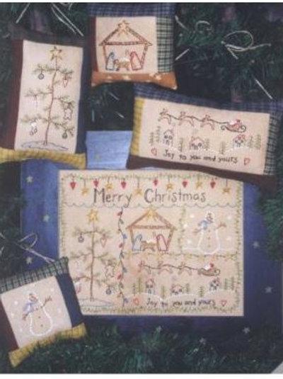 BR32 - Merry Christmas Stitchery