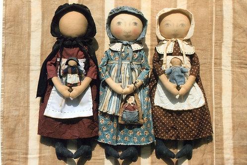 HHF301 - Early Style Settler Dolls
