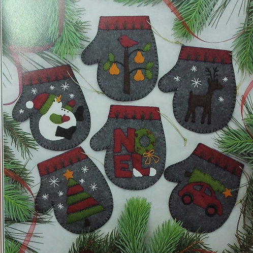 ROG616 - Charcoal Mitten Ornament KIT