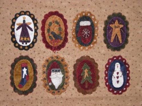 BQ 143 Wool Christmas Ornies