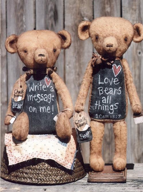 HHF439 - Chalkboard Belly Teddy Bears