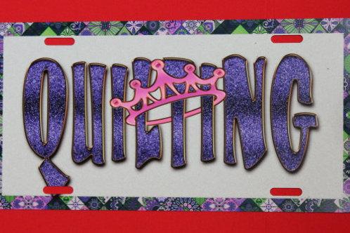 TPP123  Quilting Queen Purple