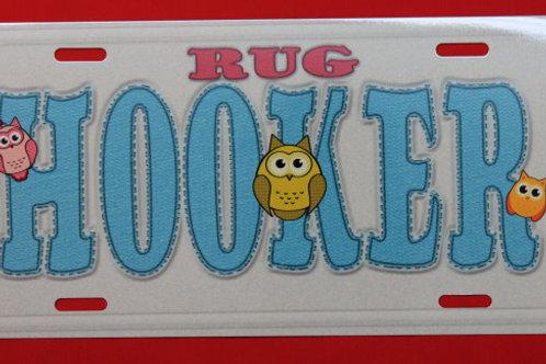 TPH114  Rug Hooker Blue W/Owls