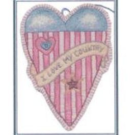 CK PA 11 Patriotic Heart Ornament