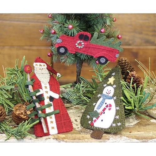 PRI 528 Yuletide Primitive Ornaments