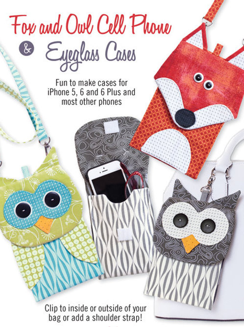 CG174 - Fox and Owl Cell Phone & Eyeglass Cases
