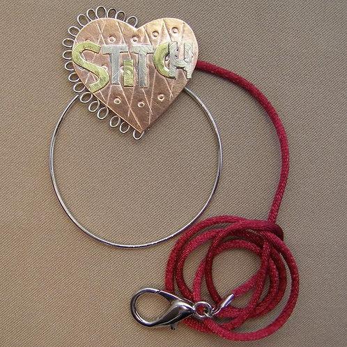 SS 0603 Stitch Heart Scissor Sitter