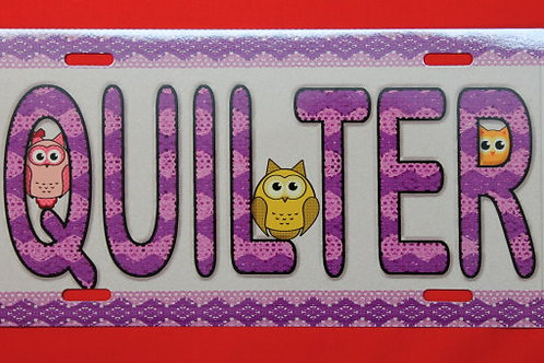 TPH117 Quilter Purple Lace W/Owls