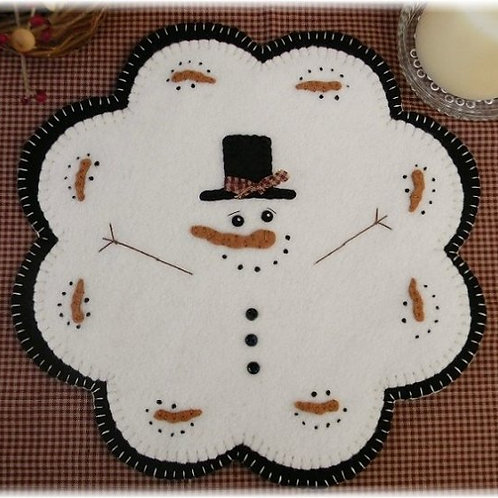 """PLP153 - January Thaw Candle Mat 11"""""""