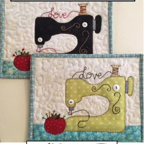 QD327 -  Sew in Love Mug Rug
