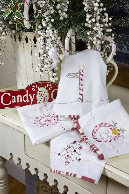 CAH432 - Peppermint Stick Tea Towels