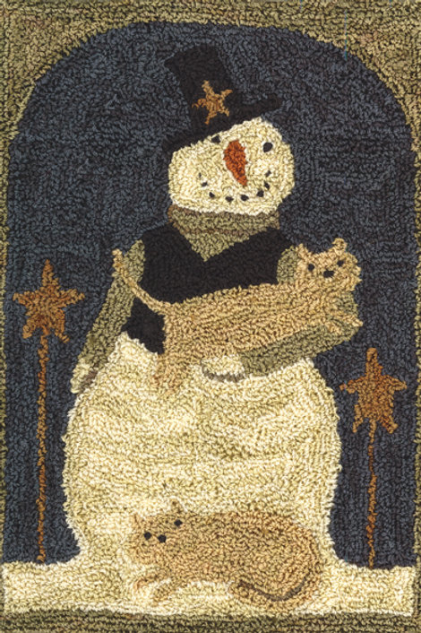 TK016 - Snowman with Cats