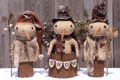 HHF392 - Prim Can Snowman