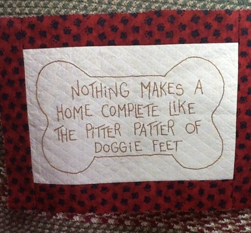 GL 40 Pitter Patter Of Doggie Feet 4040 X 40 Primitive Patterns Adorable The Pattern Hutch
