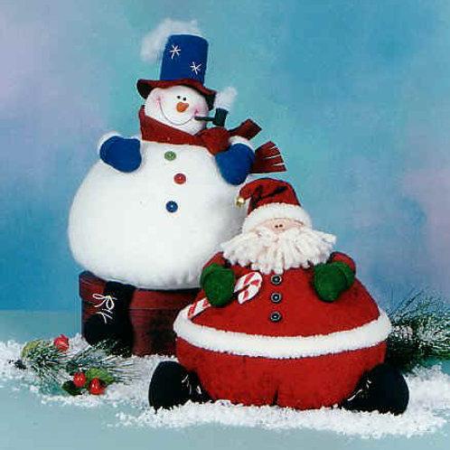 CG98 - Mini Puffs - Santa & Snowman