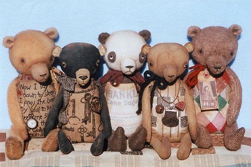 HHF304 - Primitive Keepsake Teddy Bears