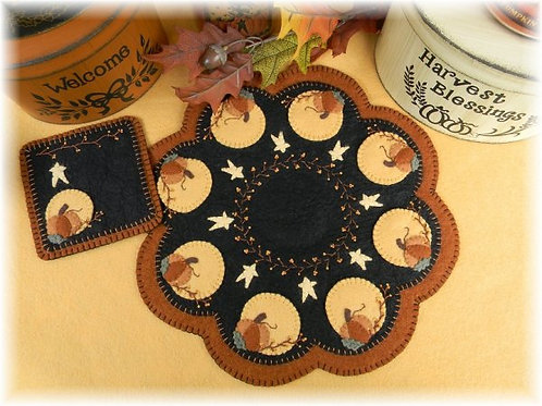 PLP151 -  Harvest Moon Candle Mat 13""