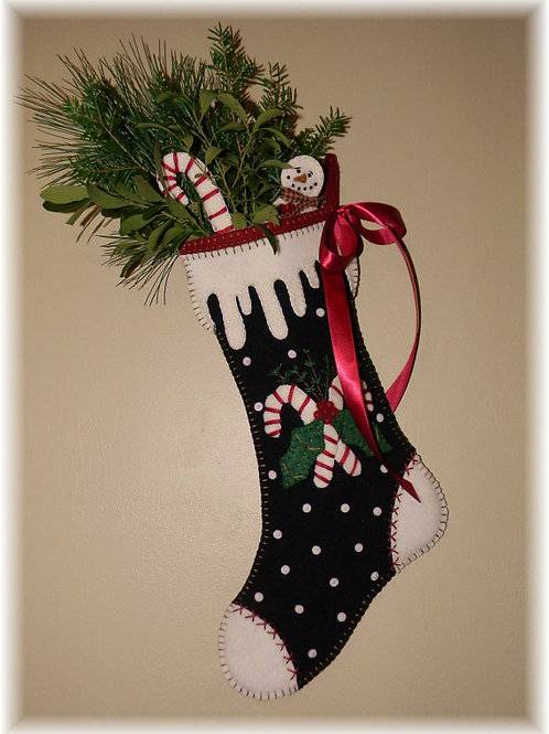 PLP168 Candy Cane Christmas Stocking