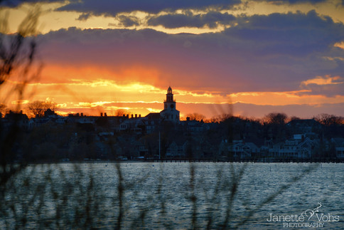 Vibrant Town Sunset