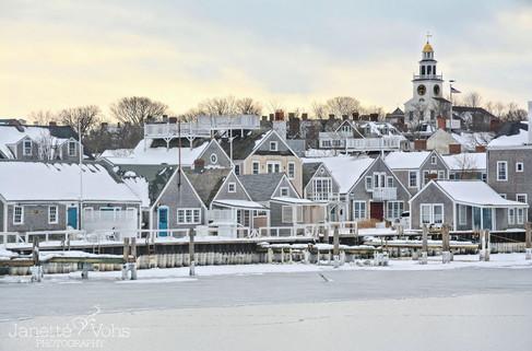#0129 - Frozen Nantucket Town