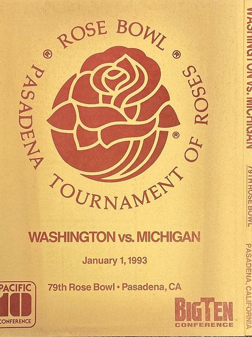 1993 Rose Bowl Program - Michigan vs Washington