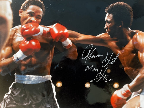 """Tommy """"Hitman"""" Hearns Autographed Photo"""