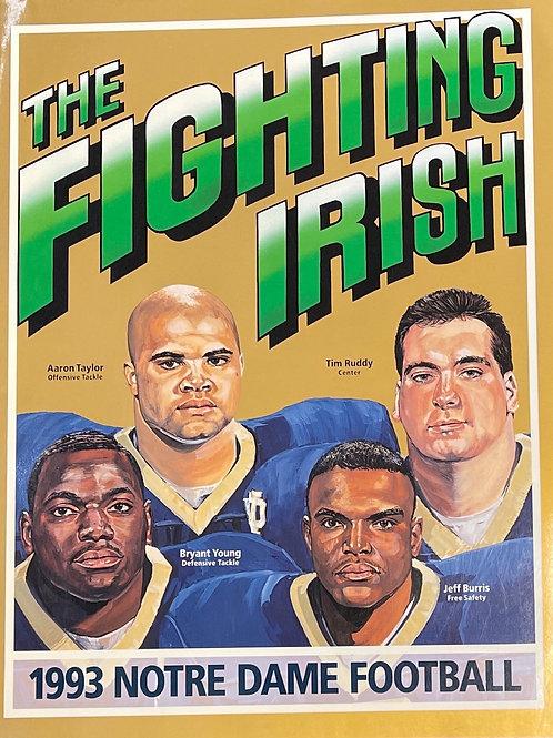1993 Notre Dame Football Media Guide