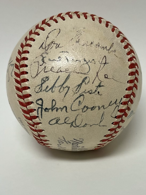 1949 National League All Star Autographed Baseball