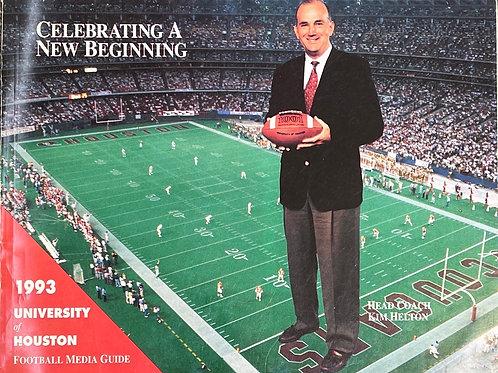 1993 University of Houston Football Media Guide