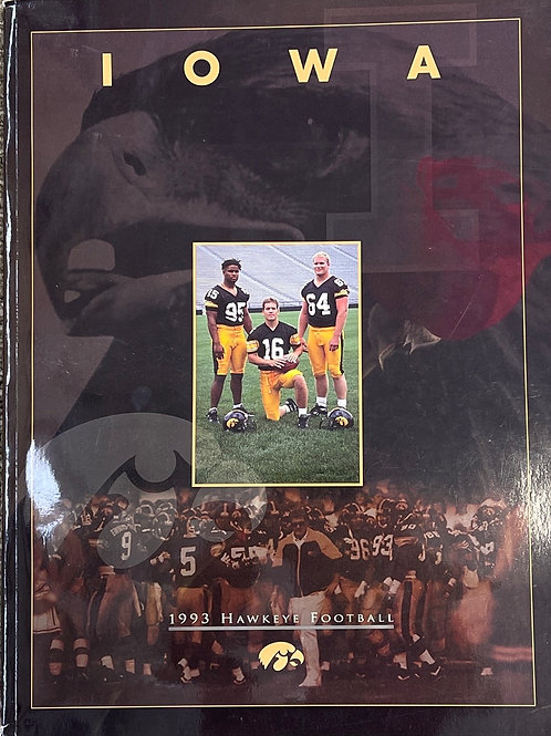 1993 Iowa Hawkeye Football Media Guide