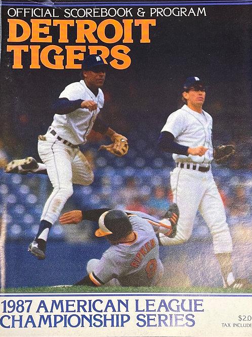 1987 American League Championship Series Program