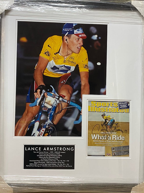 Lance Armstrong Shadowbox Sports Illustrated - Autographed