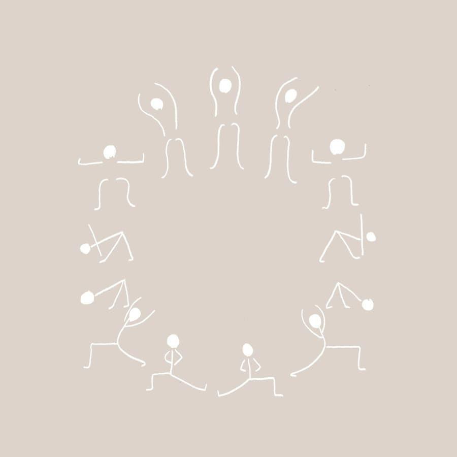 yoga avec pauline illustration salutation à la lune