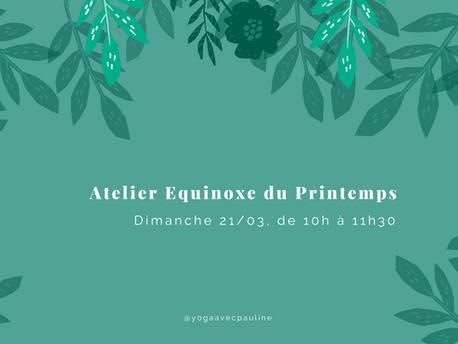 AGENDA | Atelier en ligne pour l'Equinoxe de Printemps