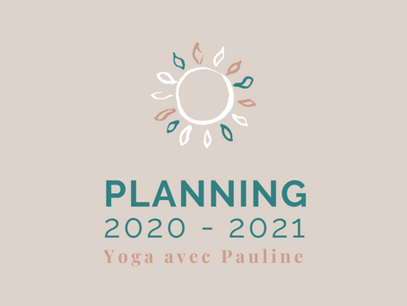 Cours de yoga 2020/2021: planning & inscriptions